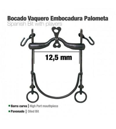 Bocado Vaquero B/Curva Embocadura Palometa 12.5 cm