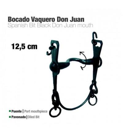 Bocado Vaquero Don Juan 2A Pavonado 12.5 cm