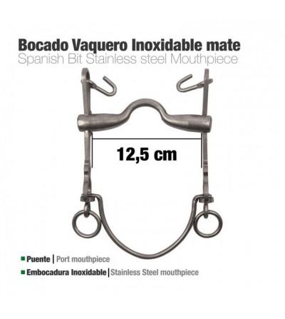 Bocado Vaquero Embocadura Inox 7A/AR MATE 12.5 cm