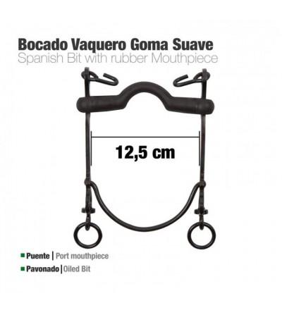 Bocado Vaquero Goma Suave 7A Pavonado 12.5 cm