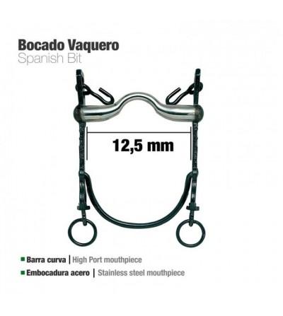 Bocado Vaquero B/Curva Embocadura de Acero 12.5 cm