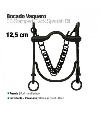 Bocado Vaquero Pavonado Inoxidable 217971SMK 12.5 cm