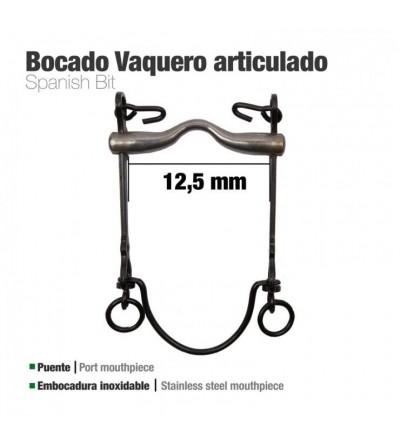 Bocado Vaquero Articulado 7Ai Pavonado 12.5 cm