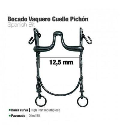 Bocado Vaquero B/Curva Cuello Pichón 12.5 cm