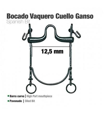 Bocado Vaquero B/Curva Cuello Ganso 12.5 cm