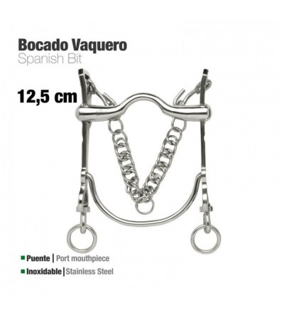 Bocado Vaquero Inox 217971 12.5 cm