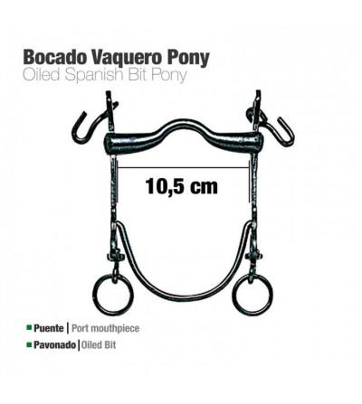 Bocado Vaquero B/Curva Pony Pavonado 10.5 cm
