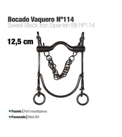Bocado Vaquero Económico Nº114 Pavonado 12.5 cm