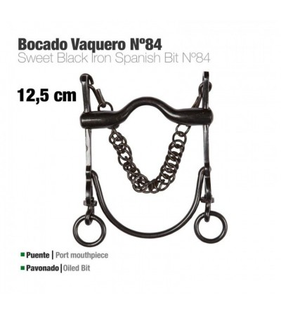 Bocado Vaquero Económico Nº84 Pavonado 12.5 cm