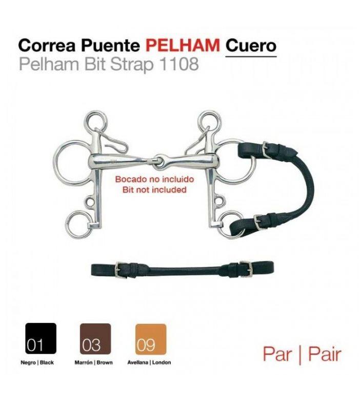 Correa Puente Pelham Cuero Par