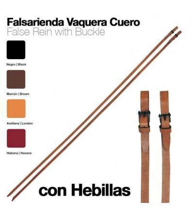 Falsa-Rienda Vaquera Cuero con Hebillas