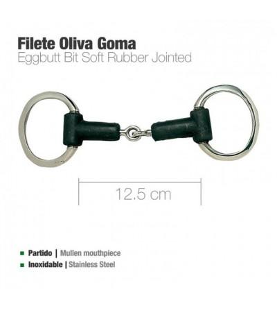 Filete Oliva Partido Inoxidable Goma 12.5 cm