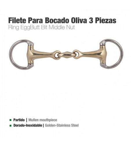 Filete Oliva 3-Piezas para Bocado D83 1
