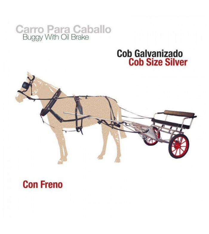 Carro-Limonera para Caballo Galvanizado con Freno