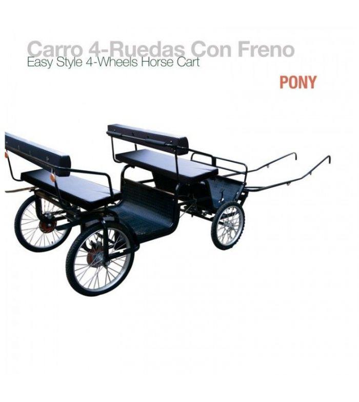 Carro 4 Ruedas con Freno para Pony