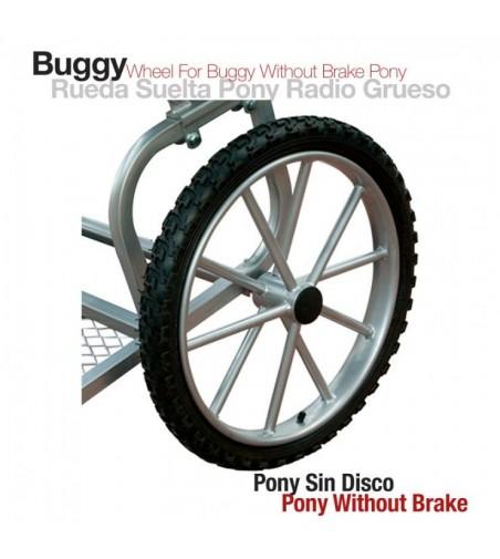 Carro-Rueda Radio Grueso sin Disco Pony 1702