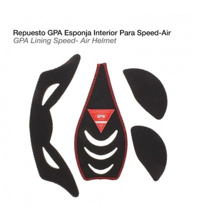 Casco-Gpa Repuesto Esponja Interior Speed-Air