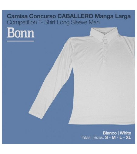 Camisa Concurso Bonn Manga Larga Caballero