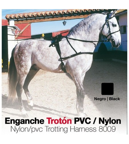 Enganche Trotón Pvc/Nylon 8009 Negro
