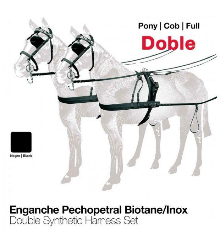 Enganche a la Húngara Biothane/Inoxidable Doble