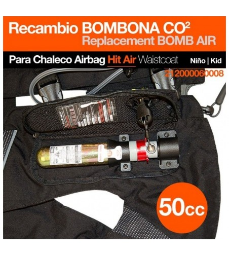 Chaleco Airbag Hit-Air Bombona Co2