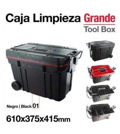 Caja Limpieza Grande 610 x 375 x 415 mm Negra