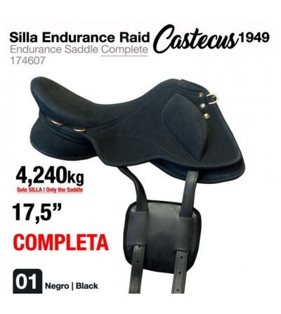 "Silla Endurance Raid Castecus 1949 17.5"" Negro"