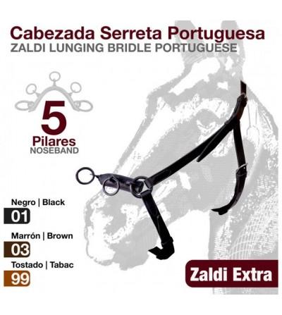 Cabezada Serreta Portuguesa Zaldi Extra 5 pilares