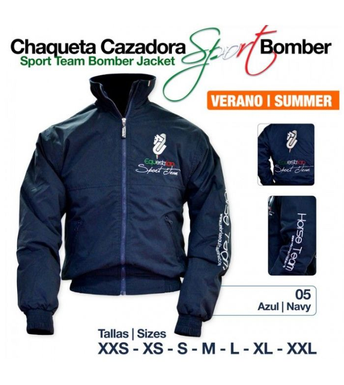 Chaqueta Cazadora Bomber Sport Verano