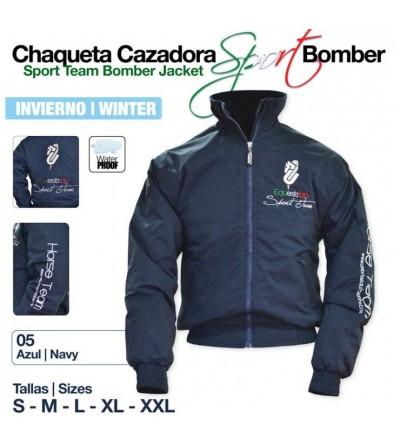 Chaqueta Cazadora Sport Bomber Invierno Azul