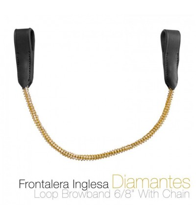Frontalera Inglesa con Diamantes 12114
