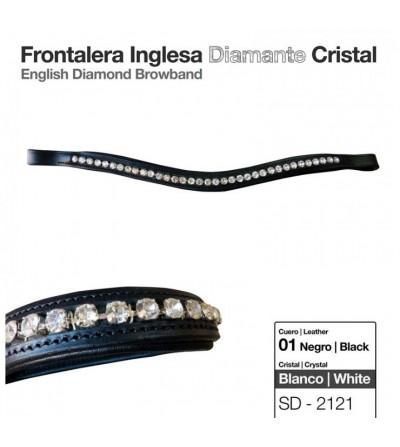 Frontalera Inglesa Diamante Cristal Negro