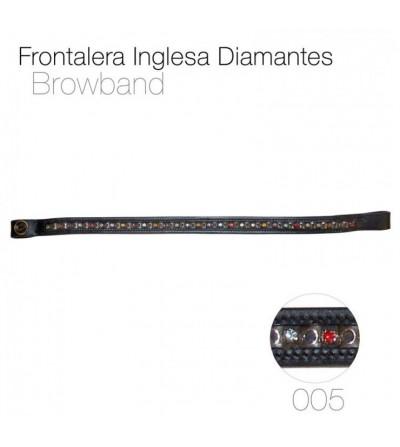 Frontalera Inglesa con Diamantes 005
