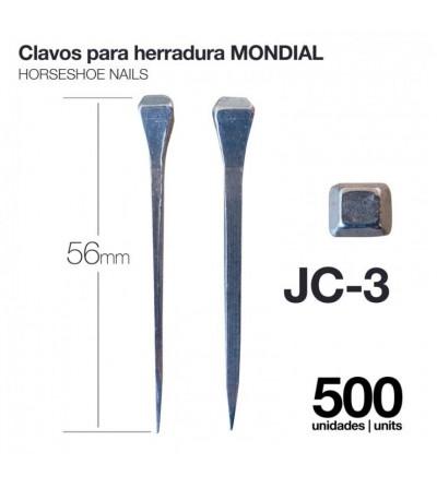 Clavos para Herradura Mondial JC-3 500 Uds