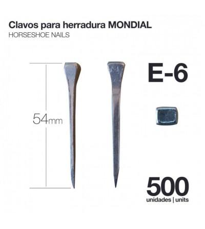 Clavos para Herradura Mondial E-6 500 Uds