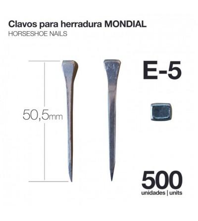 Clavos para Herradura Mondial E-5 500 Uds