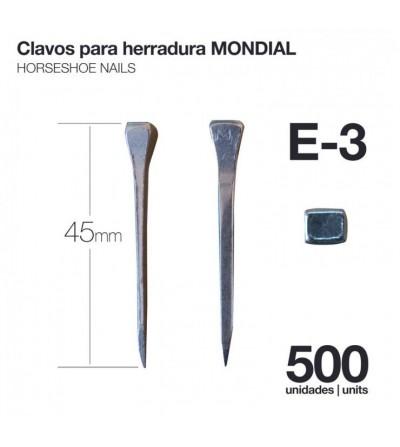 Clavos para Herradura Mondial E-3 500 Uds