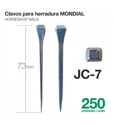 Clavos para Herradura Mondial JC-7 250 Uds