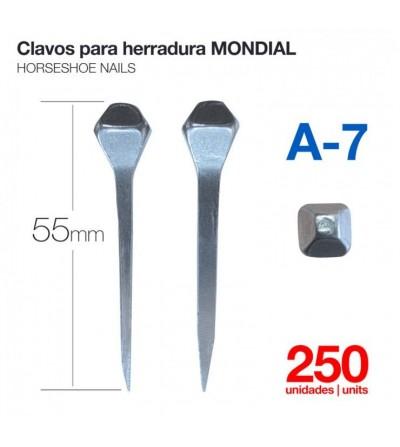 Clavos para Herradura Mondial A-7 250 Uds