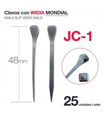 Clavos con Widia Mondial JC-1 (25 Uds)