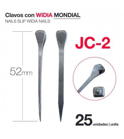 Clavos con Widia Mondial JC-2 (25 Uds)