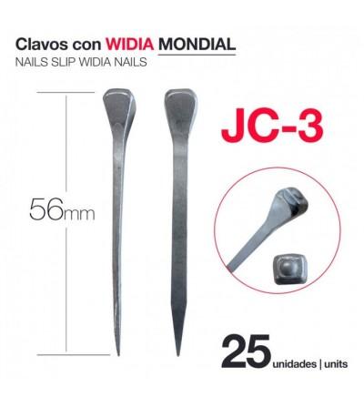 Clavos con Widia Mondial JC-3 (25 Uds)