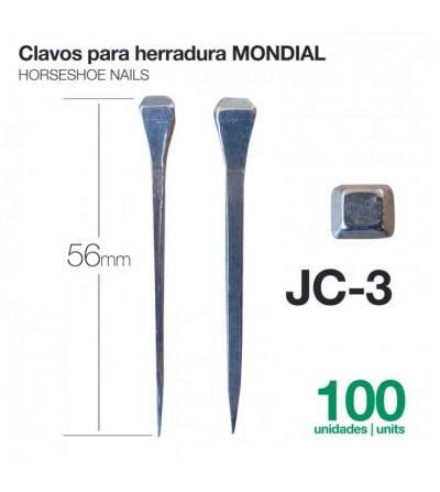 Clavos para Herraduras Mondial JC-3 100 Uds