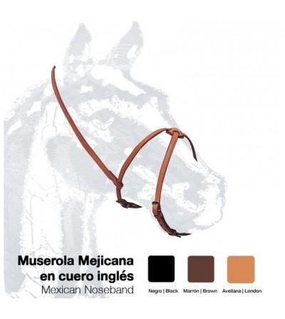 Muserola Mejicana Cuero Inglés