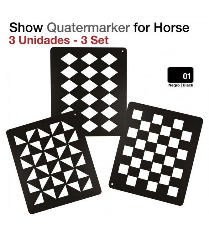 Quatermarker para Caballo Show Juego 3 Unidades