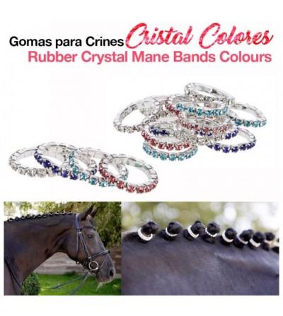Gomas para Crines de Colores Cristal