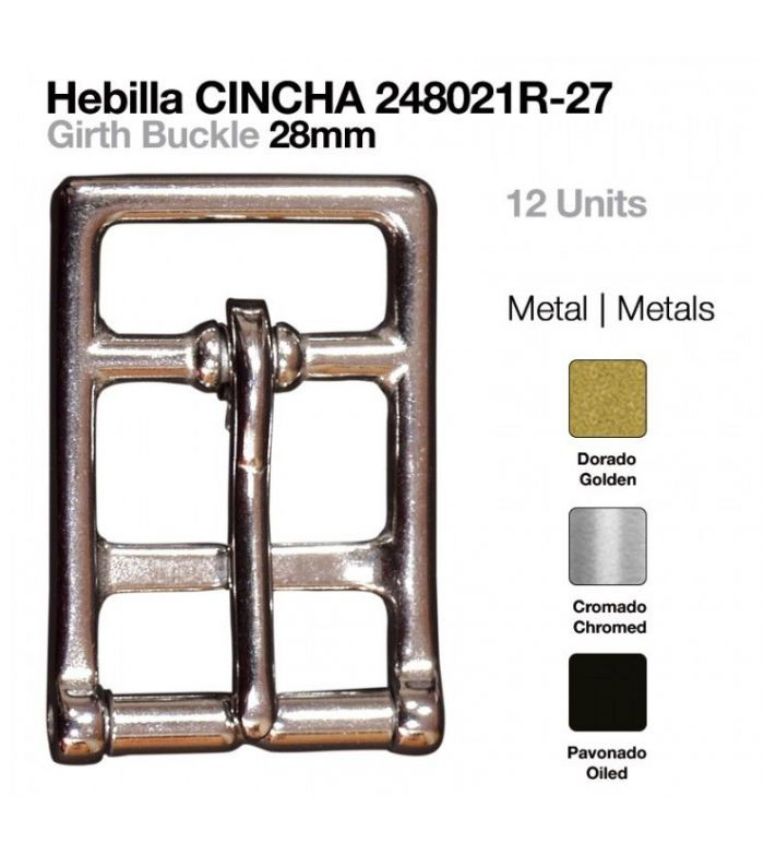 Hebilla Cincha Inoxidable 28 mm (12 Uds)