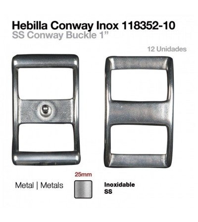 Hebilla Conway Inoxidable 25 mm (12Uds)