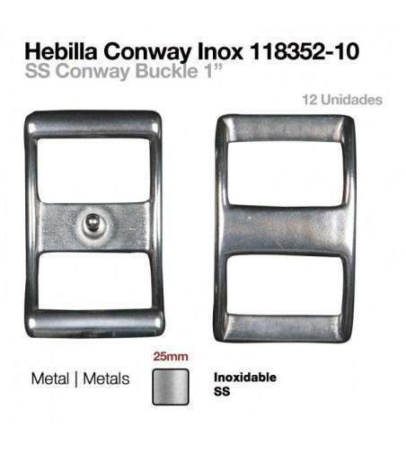 Hebilla Conway Inoxidable 25 mm (12Uds)
