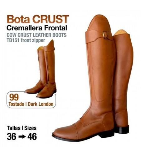 Bota Crust Cremallera Frotal TB151 Tostado
